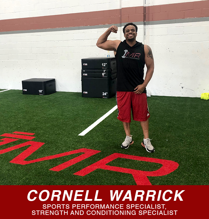 Cornell Warrick sport performance specialist and strength and condition specialist button