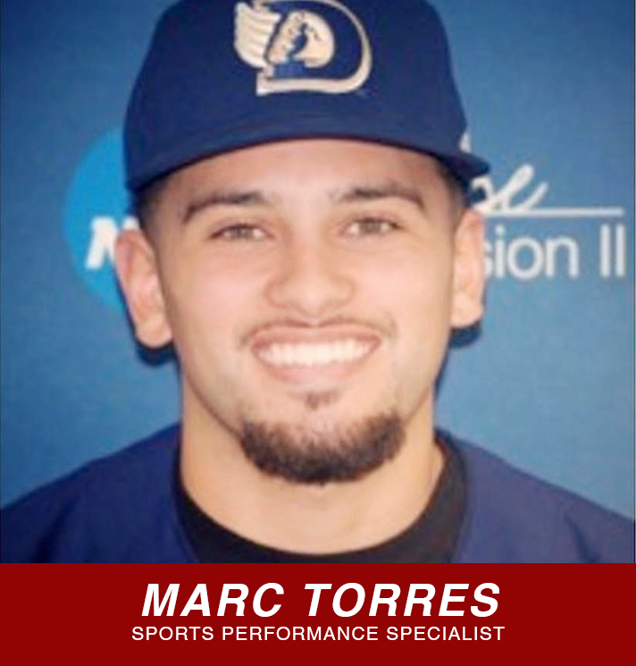 Marc Torres sports performance specialist button