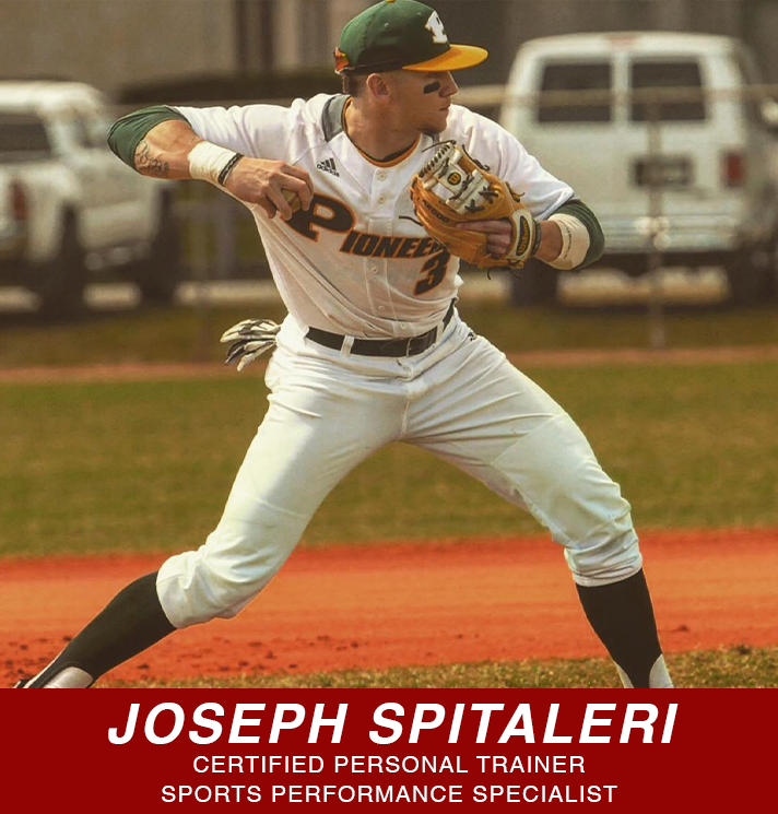 Joseph Spitaleri personal trainer and sports performance specialist button